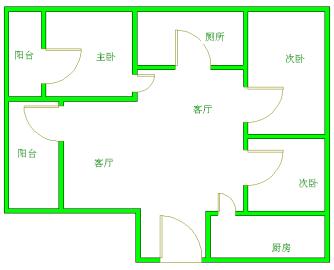 武海.中华锦绣  3室2厅1卫    2500.0元/月