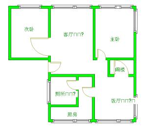 小南街公寓  2室2厅1卫    2300.0元/月