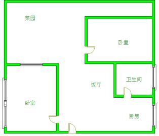 潮福苑  2室1厅1卫    1400.0元/月