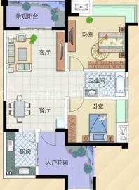 南阳盛世  2室1厅1卫    1600.0元/月