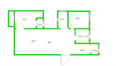 大地锦苑  3室2厅2卫    3500.0元/月