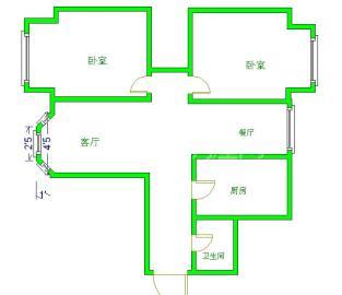 绿杨新邨  2室2厅1卫    2600.0元/月