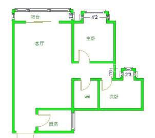 阳光金沙  2室2厅1卫    72.0万