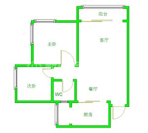 金地..嘉年华城  2室2厅1卫    2100.0元/月