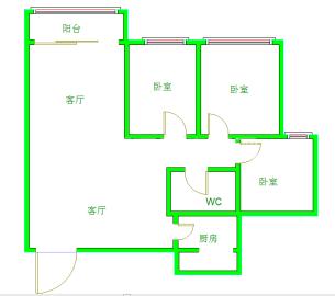 金沙美邻丽谢苑C区  3室2厅1卫    2500.0元/月