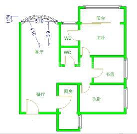 绿杨新邨  3室2厅2卫    3200.0元/月