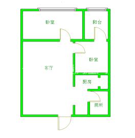 左右小區  2室1廳1衛    50.0萬
