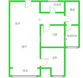 南阳盛世  2室2厅1卫    65.0万