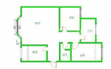绿洲华苑  3室1厅1卫    2600.0元/月