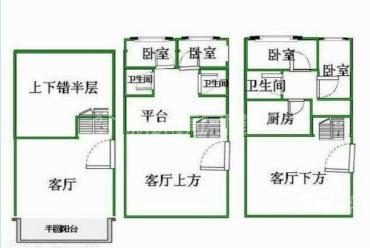 西延锦绣  3室3厅3卫    4700.0元/月