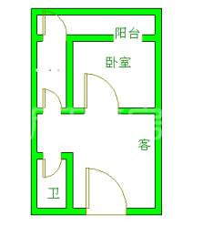 新怡花园  1室1厅1卫    1200.0元/月