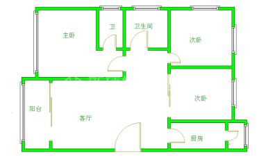 大地锦苑  3室2厅1卫    3200.0元/月