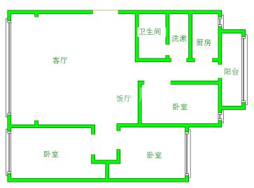 省气象局宿舍  3室2厅1卫    2100.0元/月