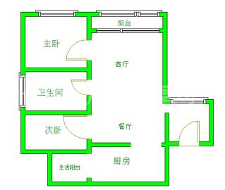 汇锦城A区  2室2厅1卫    3300.0元/月