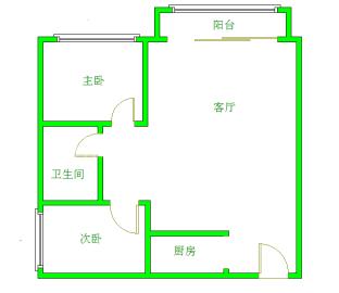 上城成都花园  2室1厅1卫    2800.0元/月
