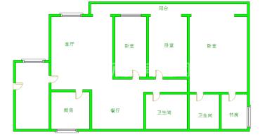 南阳盛世  3室2厅1卫    126.0万