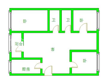 大地锦苑  3室2厅1卫    2800.0元/月