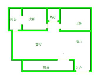 齐力碧水湾  2室1厅1卫    210.0万