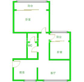 千和馨城  2室1厅1卫    2400.0元/月