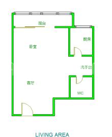 世纪金沙  1室1厅1卫    107.0万