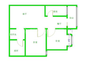 爱丽舍  2室2厅1卫    1800.0元/月