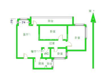祥域  3室1厅1卫    192.0万