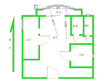 天邑花园  2室2厅1卫    2600.0元/月