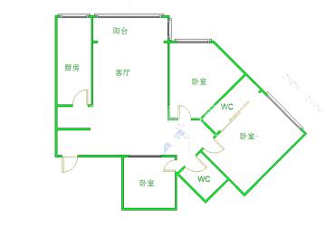 西城丽舍  3室2厅2卫    135.0万