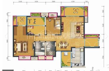 汇锦城A区  3室2厅2卫    330.0万