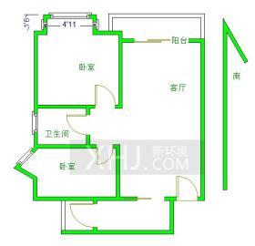 金沙西园四期  2室1厅1卫    226.0万