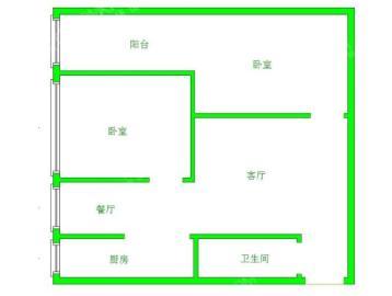 南湖锦苑  2室2厅1卫    1400.0元/月