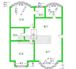 金都花园  2室2厅1卫    195.0万