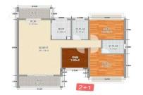 中原德景园  2室2厅1卫    2600.0元/月