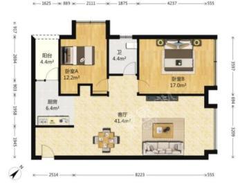 建发天府鹭洲  2室1厅1卫    220.0万
