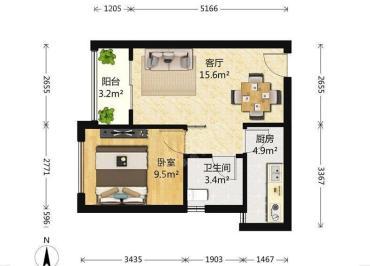 朗基龙堂  1室1厅1卫    117.0万