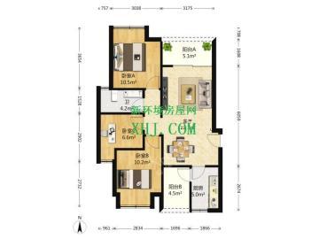 绿地之窗  3室2厅1卫    330.0万