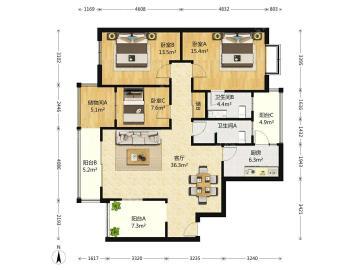 碧华邻  3室2厅1卫    365.0万