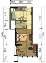 南湖半岛  1室1厅1卫    60.0万