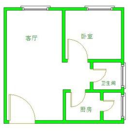 金沙美邻B区  1室1厅1卫    1400.0元/月