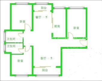 南湖锦苑  2室2厅1卫    1700.0元/月