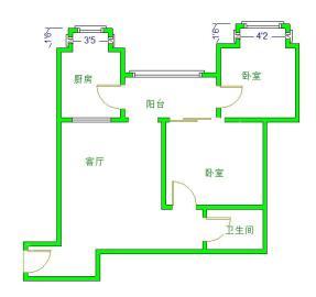 仁和金沙  2室1厅1卫    186.0万