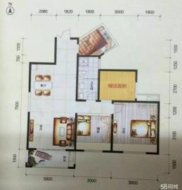 紫薇田园都市  3室2厅2卫    2500.0元/月