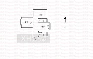 长兴园湖曲  2室2厅1卫    1600.0元/月