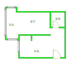 金鹏街小区  1室1厅1卫    95.0万