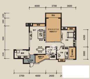 每日香山半岛  3室2厅1卫    3200.0元/月