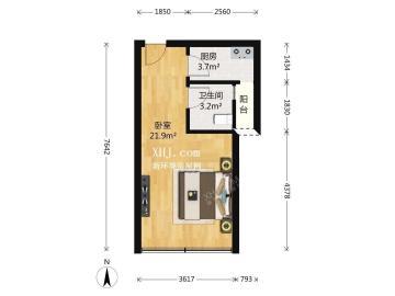 icon尚郡  1室1厅1卫    80.0万