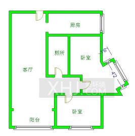 阳光金沙  2室2厅1卫    135.0万