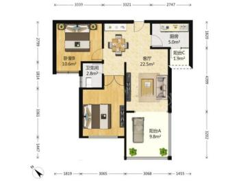 公园西  2室1厅1卫    213.0万