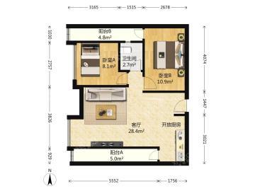 大有智慧广场  2室2厅1卫    145.0万