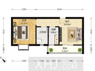 清水河畔  1室1厅1卫    90.0万